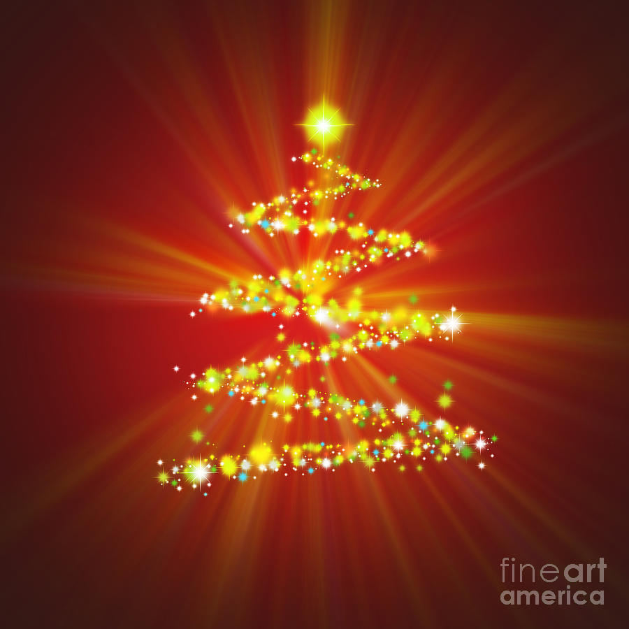 digital art christmas tree - photo #4
