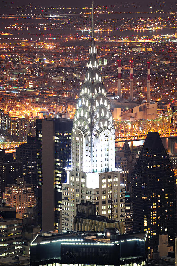 Chrysler Building In Manhattan New York City At Night ...