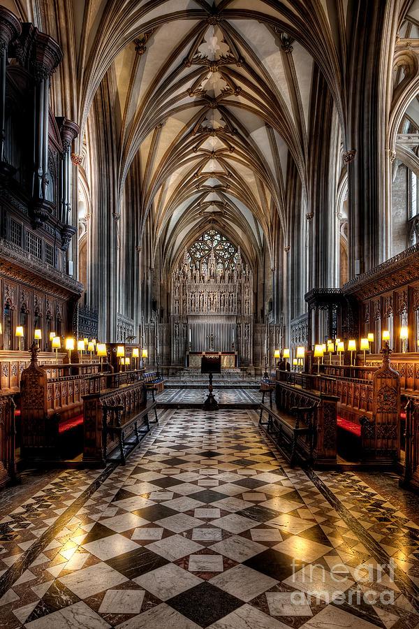 Aisle Photograph - Church Interior by Adrian Evans
