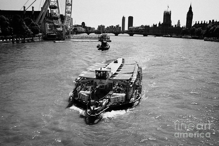 City Cruises City Delta Boat On The River Thames London