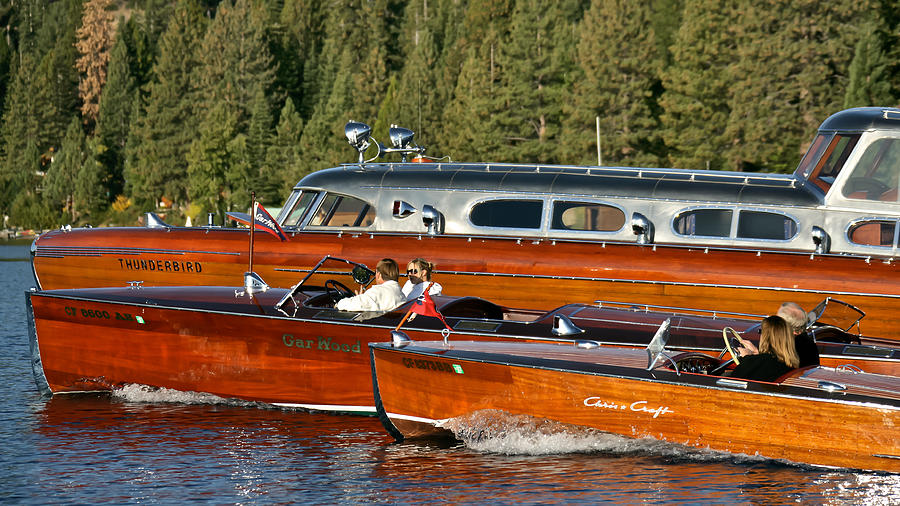 Classic Chris Craft Runabouts Photograph  - Classic Chris Craft Runabouts Fine Art Print