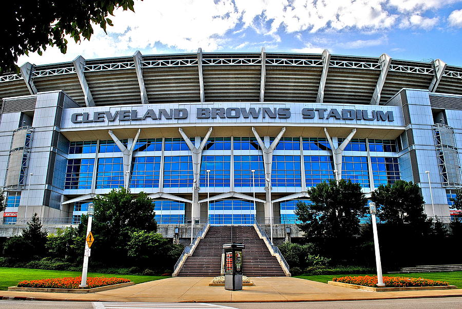 Cleveland Photograph - Cleveland Browns Stadium by Frozen in Time Fine Art Photography