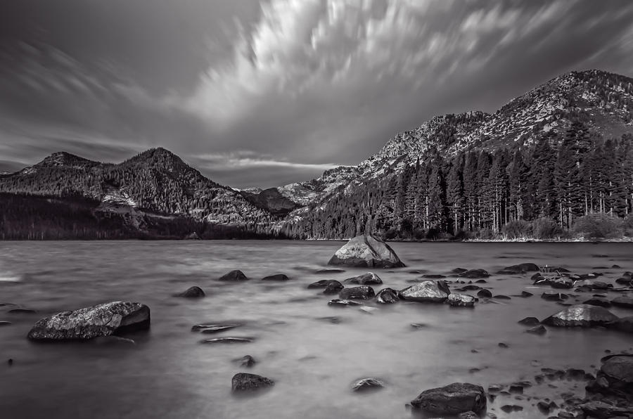 Cloud Movement Over Emerald Bay Photograph
