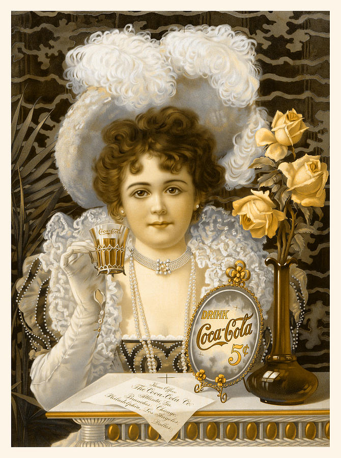Coca-cola Photograph - Coca-cola Vintage Retro Poster by John Stephens