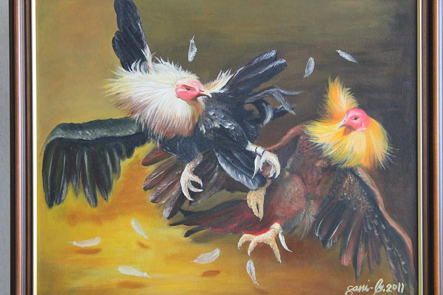 Cockfight  Painting