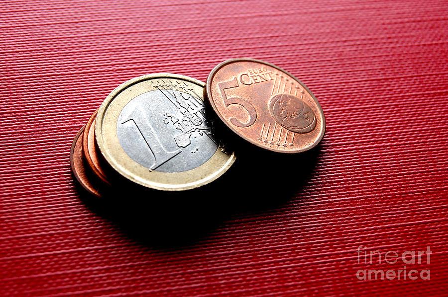 Bank Photograph - Coins Euro by Michal Bednarek