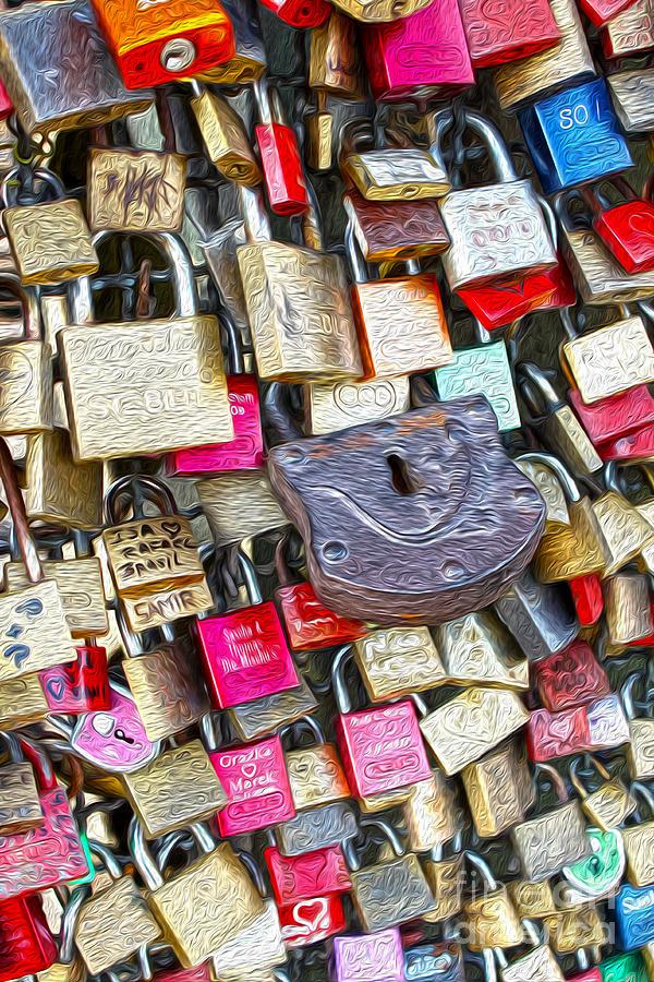 Cologne - Hohenzollern Bridge - Gypsy Locks Digital Art