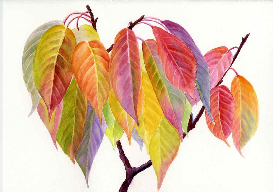 Colorful Fall Leaves Painting