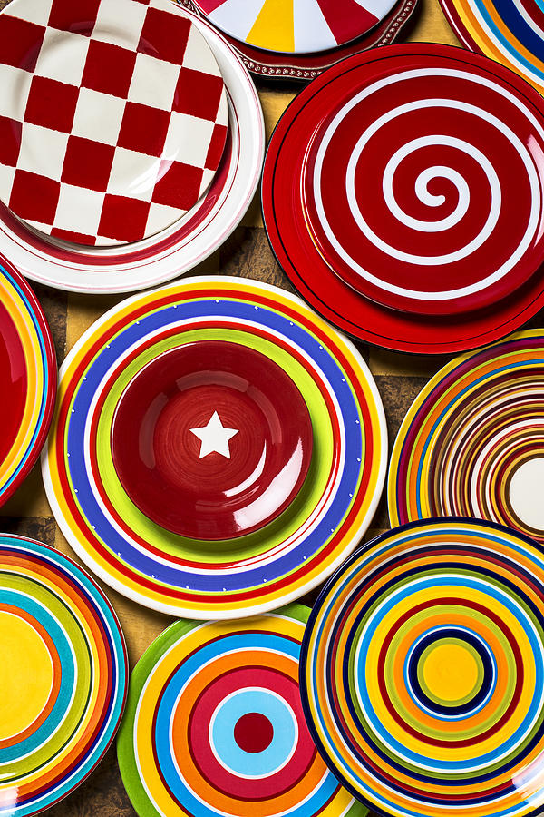 Colorful Plates Photograph