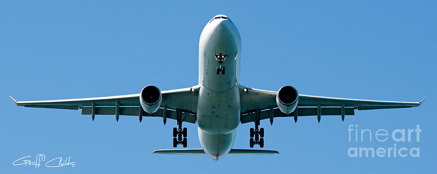 Commercial Aircraft At Sydney Airport Photograph