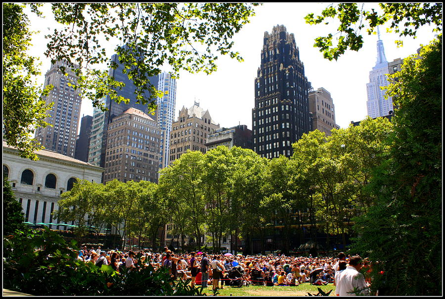 Concert At Bryant Park Photograph  - Concert At Bryant Park Fine Art Print