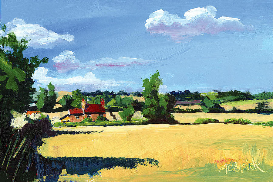 Crayke Farm North Yorkshire Painting  - Crayke Farm North Yorkshire Fine Art Print