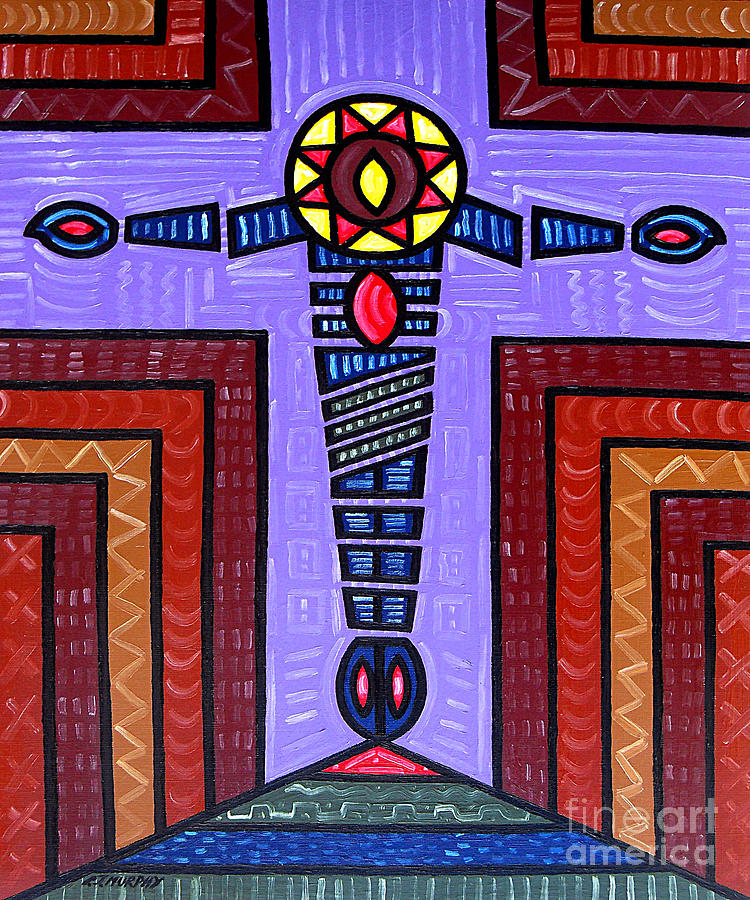 Cross 1 Painting  - Cross 1 Fine Art Print