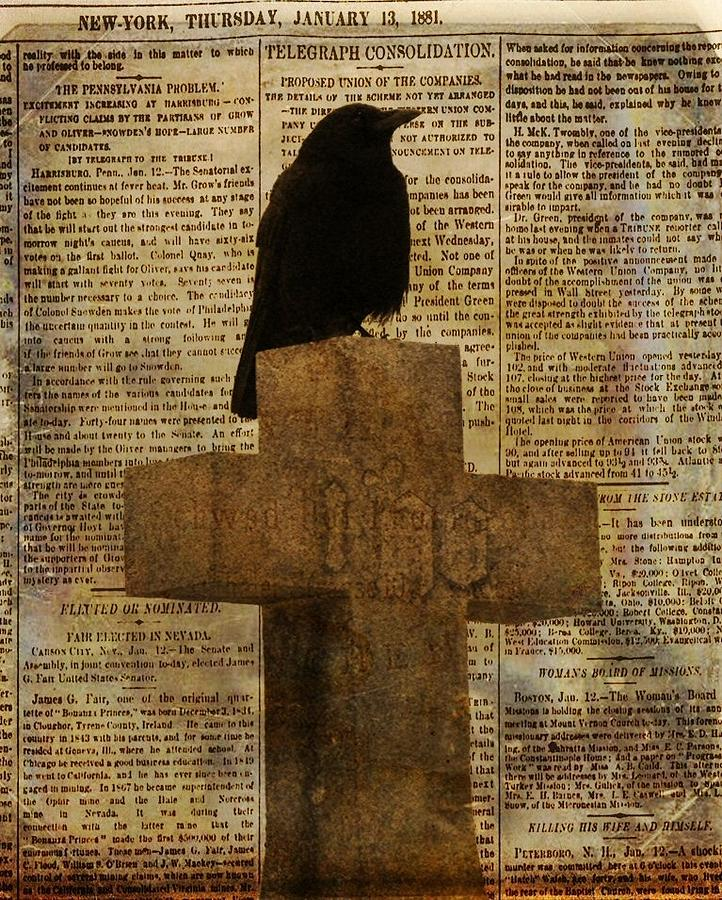 Crow Collage Photograph  - Crow Collage Fine Art Print