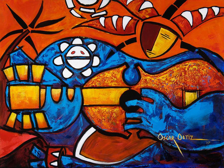Cuatro En Grande Painting