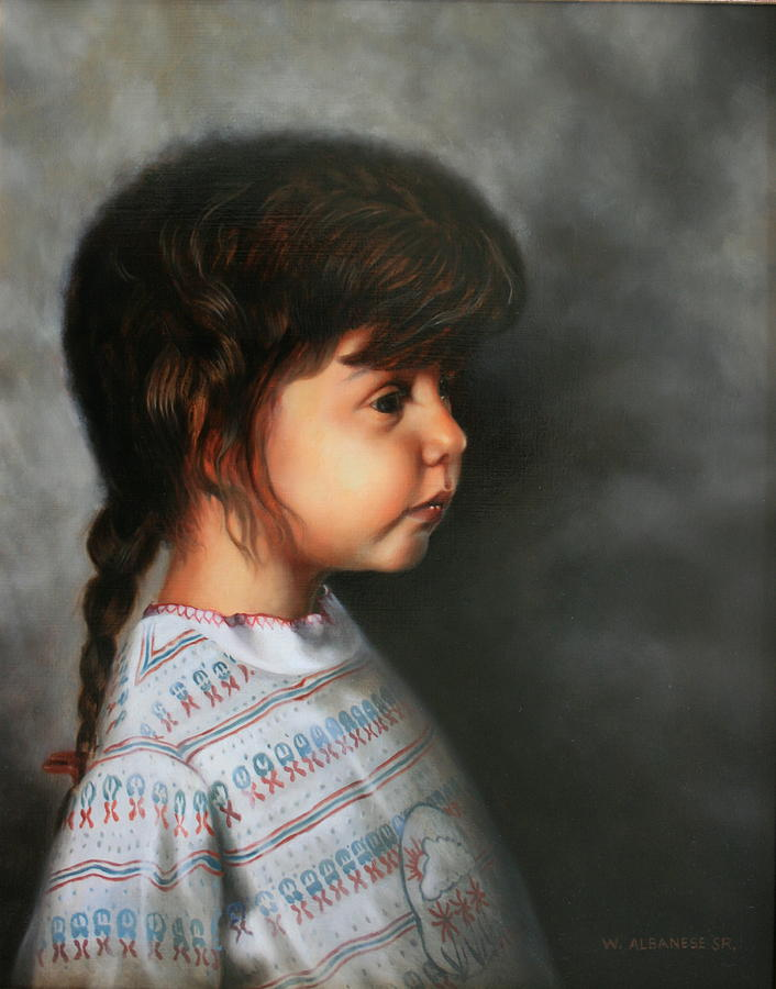Child Painting - Daddys Little Girl by William Albanese Sr