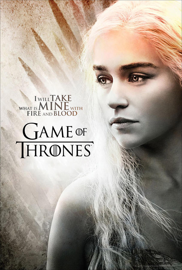 Daenerys - Game Of Thrones  Drawing  - Daenerys - Game Of Thrones  Fine Art Print