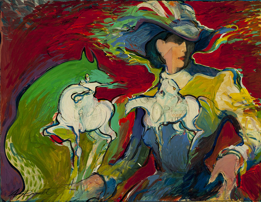 Dancing With  Horses Painting