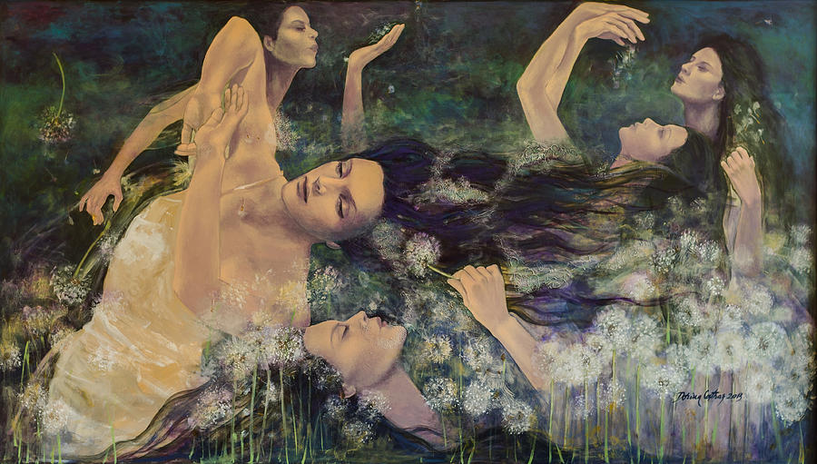 Art Painting - Dandelions by Dorina  Costras