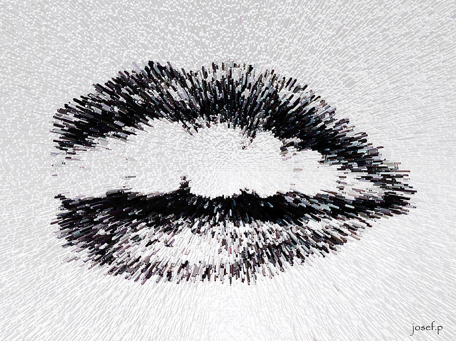 Dangerous Lips Drawing  - Dangerous Lips Fine Art Print
