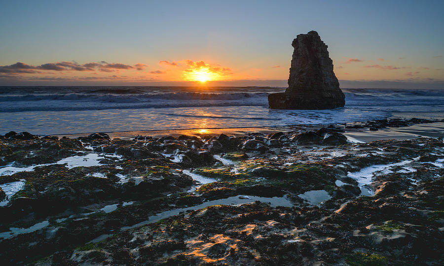 Davenport Beach Sunset 1 Photograph  - Davenport Beach Sunset 1 Fine Art Print