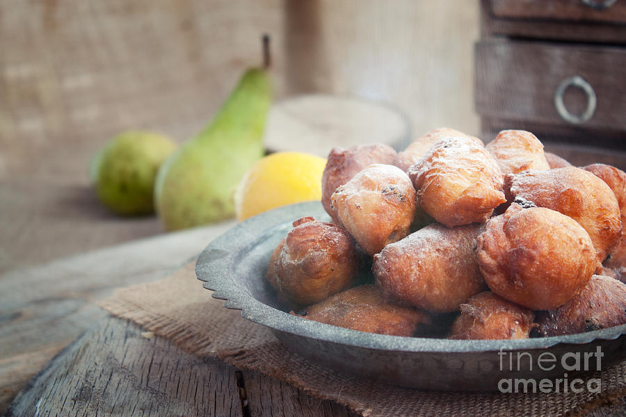Deep Fried Fritters Donuts Photograph