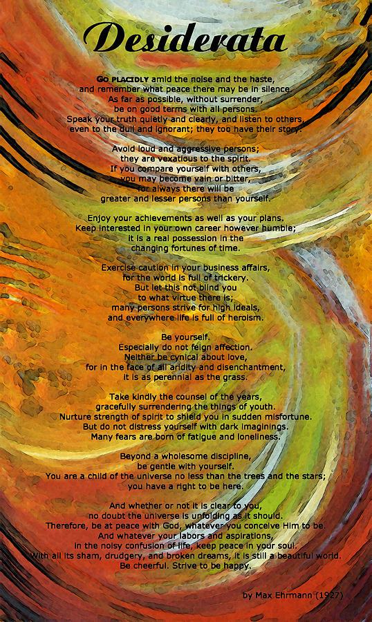 Desiderata 4 - Words Of Wisdom Painting