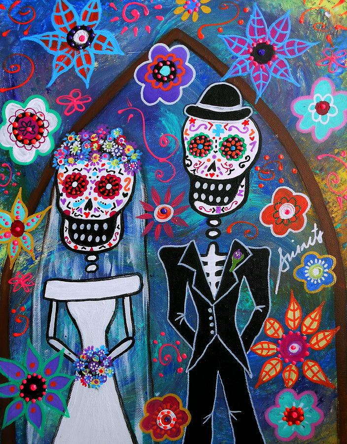 Dia De Los Muertos Wedding is a painting by Pristine Cartera Turkus ...