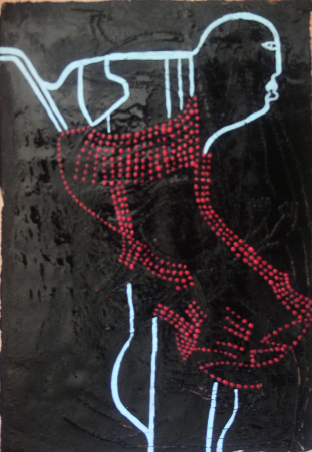 Dinka Groom - South Sudan Painting