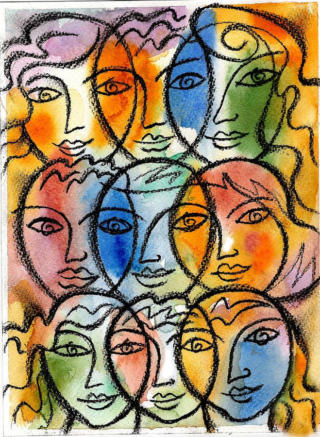 Diversity Painting By Leon Zernitsky