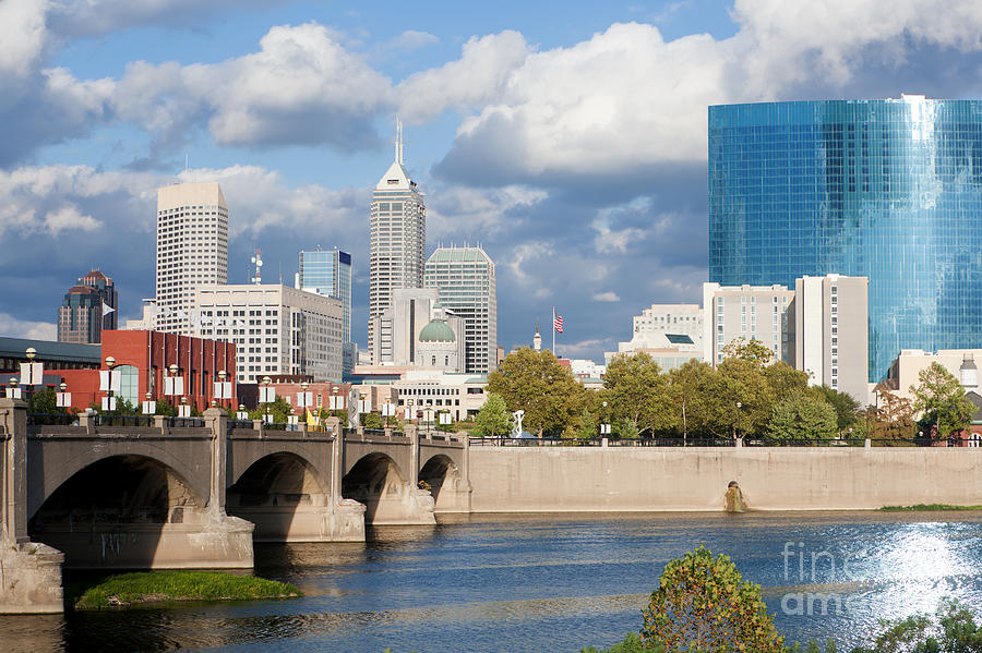 Downtown Indianapolis Indiana Photograph