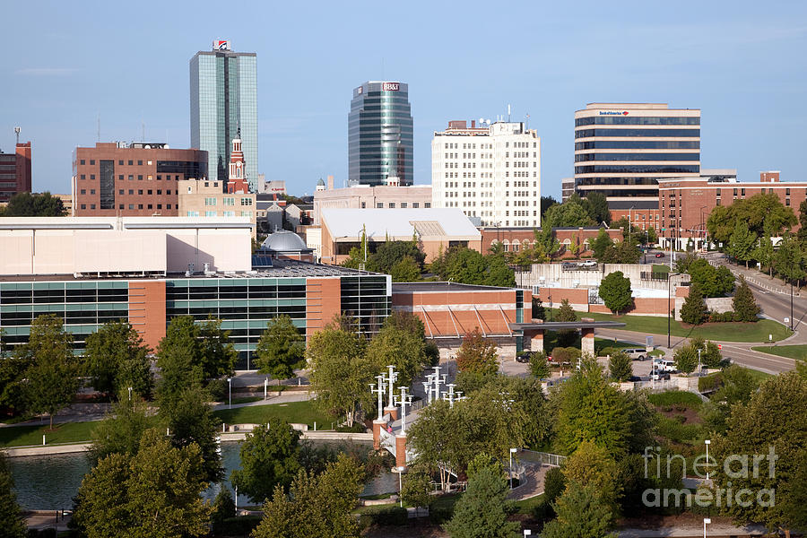 downtown knoxville tennessee skyline photograph by bill cobb