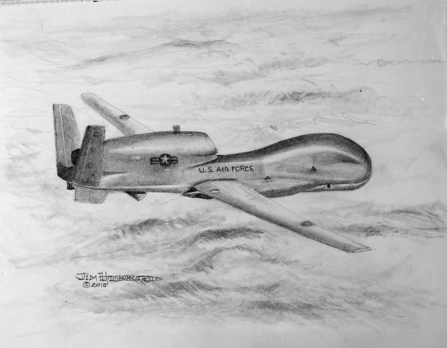 Drone Rq-4 Global Hawk DrawingGlobal Hawk Drawing