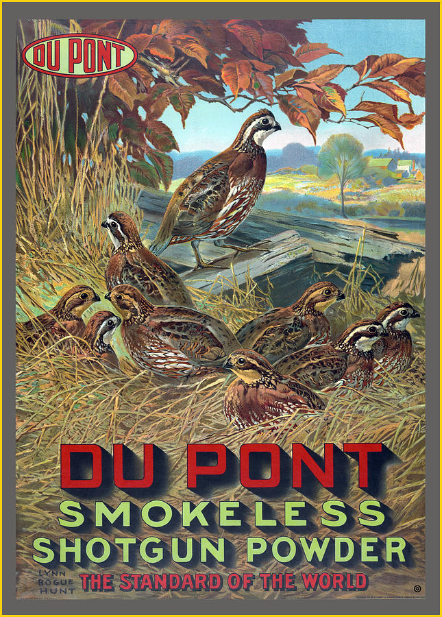 Du Pont Smokeless Digital Art  - Du Pont Smokeless Fine Art Print