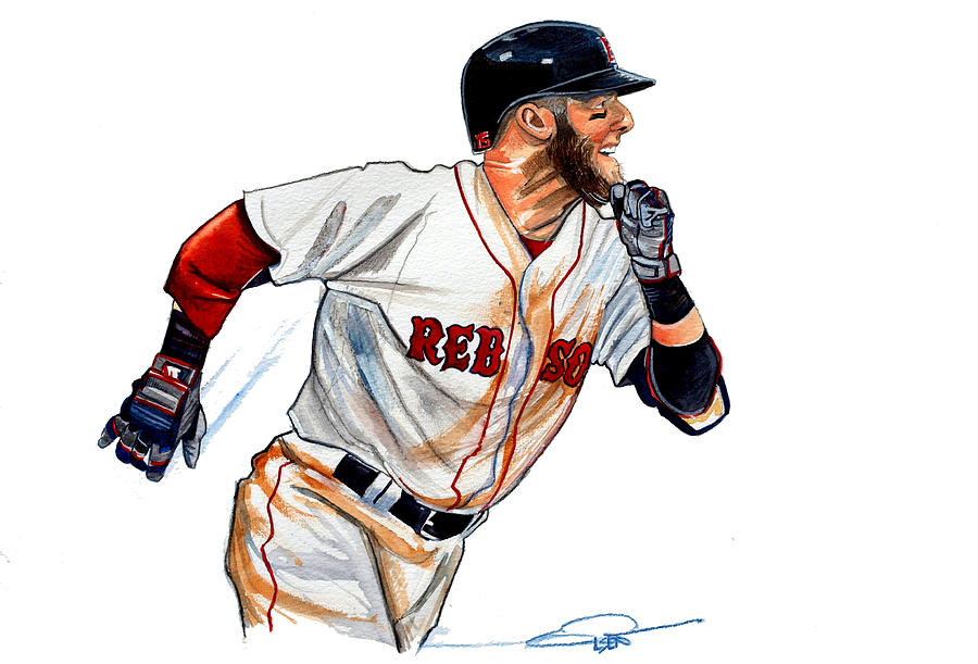 Dustin Pedroia Painting