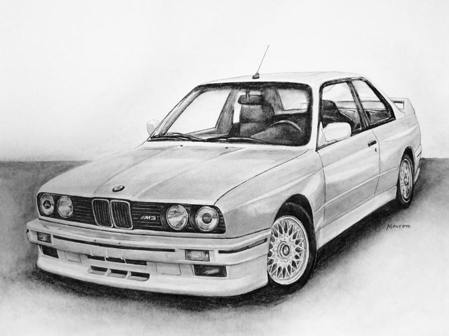 E30 M3 Drawing By Indaguis Montoto