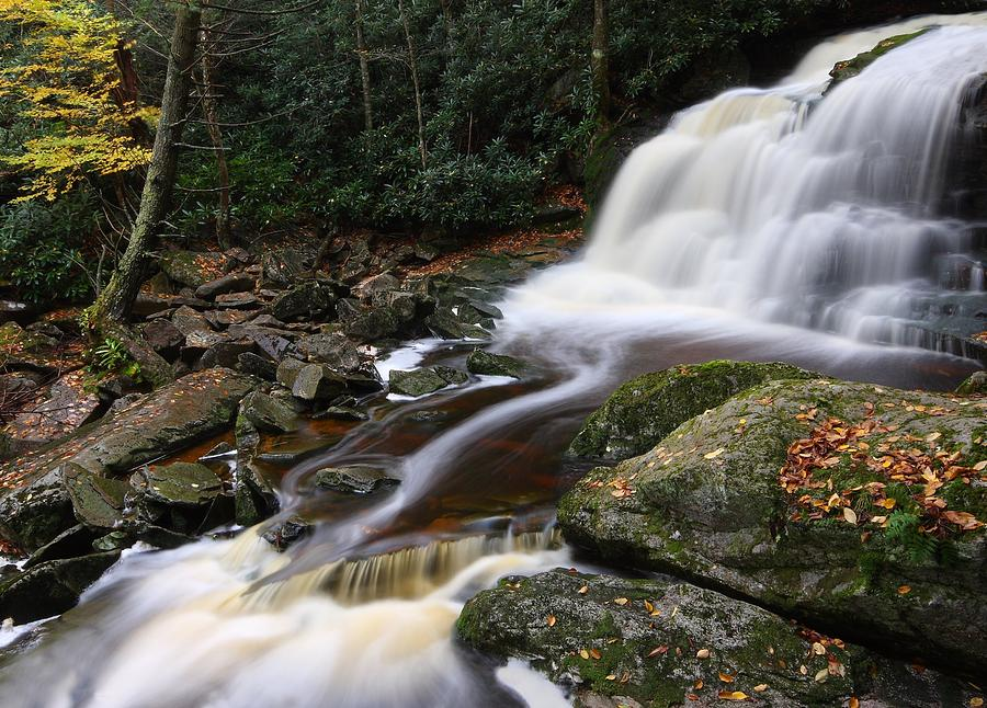 Elakala falls in autumn in west virginia photograph