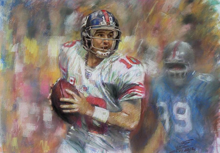 Eli Manning Nfl Ny Giants Drawing