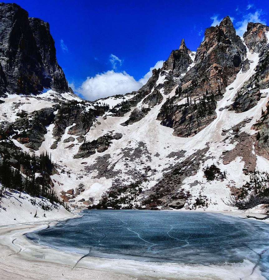Emerald Lake In Rocky Mountain National Park Photograph