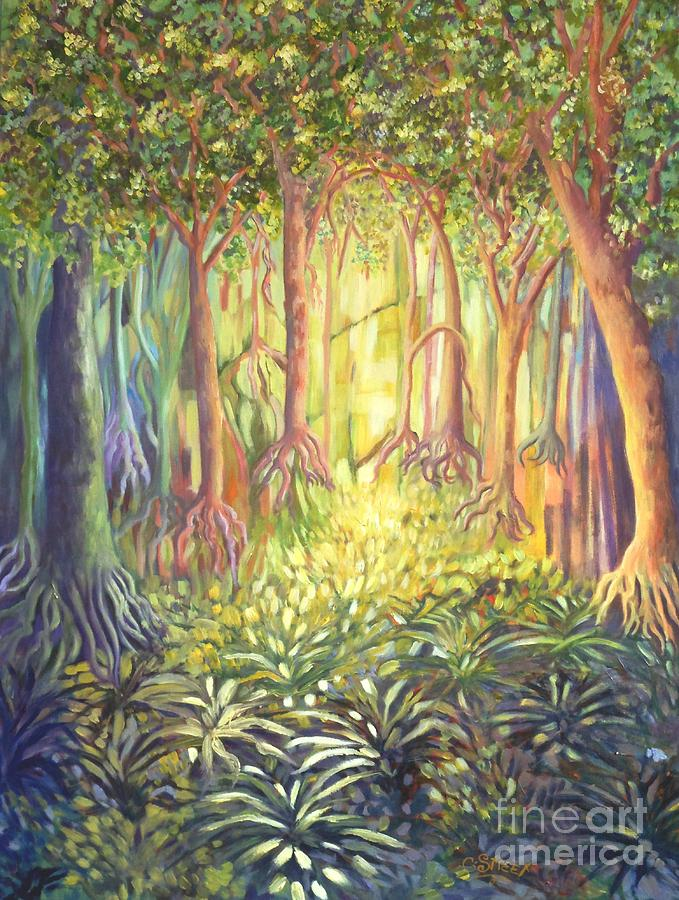 Enchanted Forest Painting  - Enchanted Forest Fine Art Print