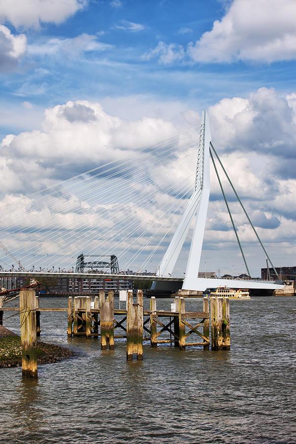 Erasmus Bridge In Rotterdam Photograph
