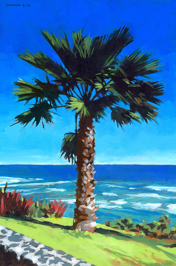 Fan Palm - Diamond Head Painting