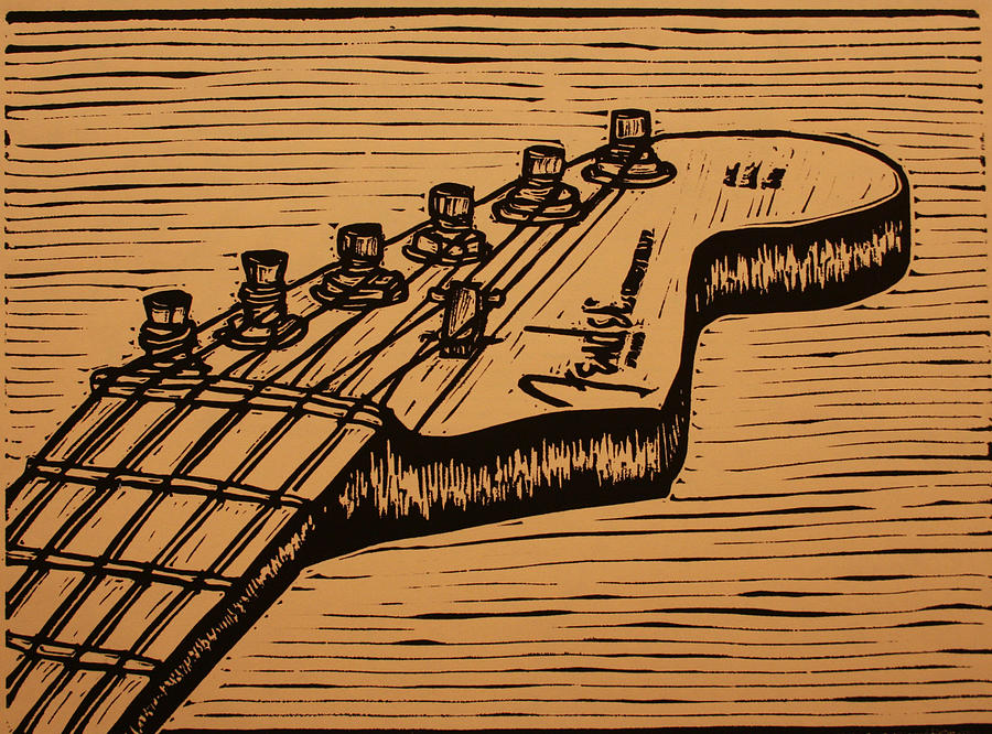Fender Strat Drawing