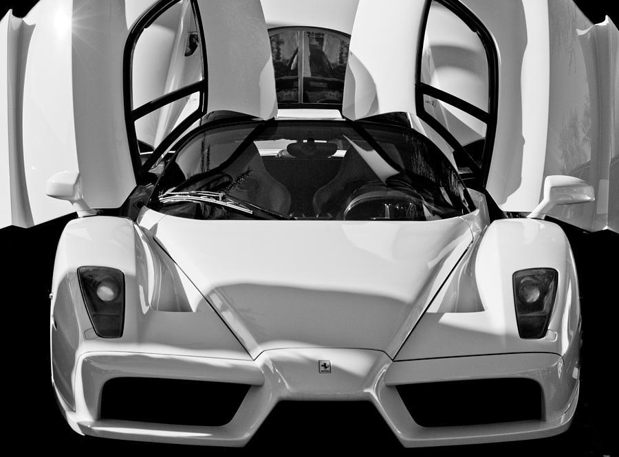 ferrari enzo photograph ferrari enzo by jill reger - Ferrari Enzo 2013 White