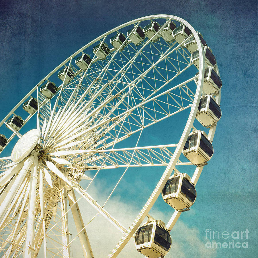 Ferris Wheel Retro Photograph By Jane Rix