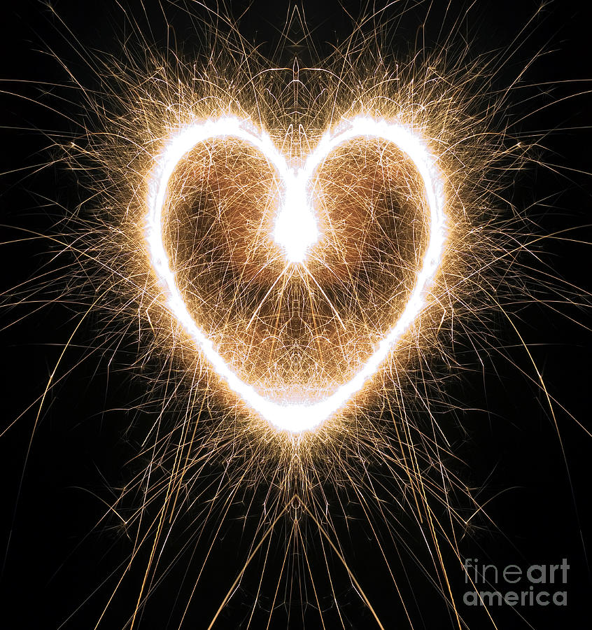 Fiery Heart Photograph  - Fiery Heart Fine Art Print