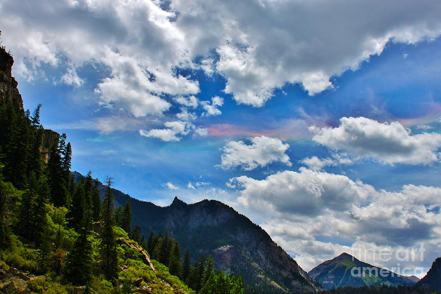 Fire In The Sky Ouray Colorado Photograph  - Fire In The Sky Ouray Colorado Fine Art Print