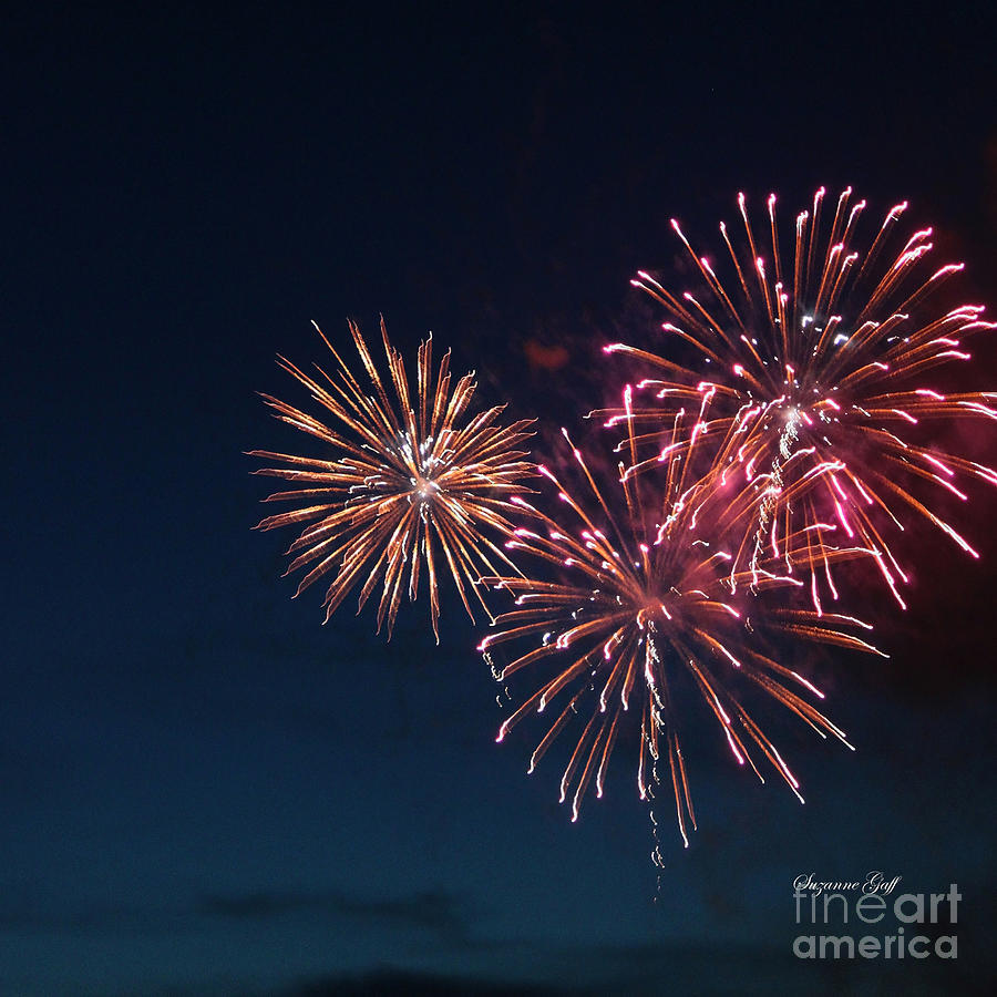 Fireworks Photograph - Fireworks Series Vi by Suzanne Gaff