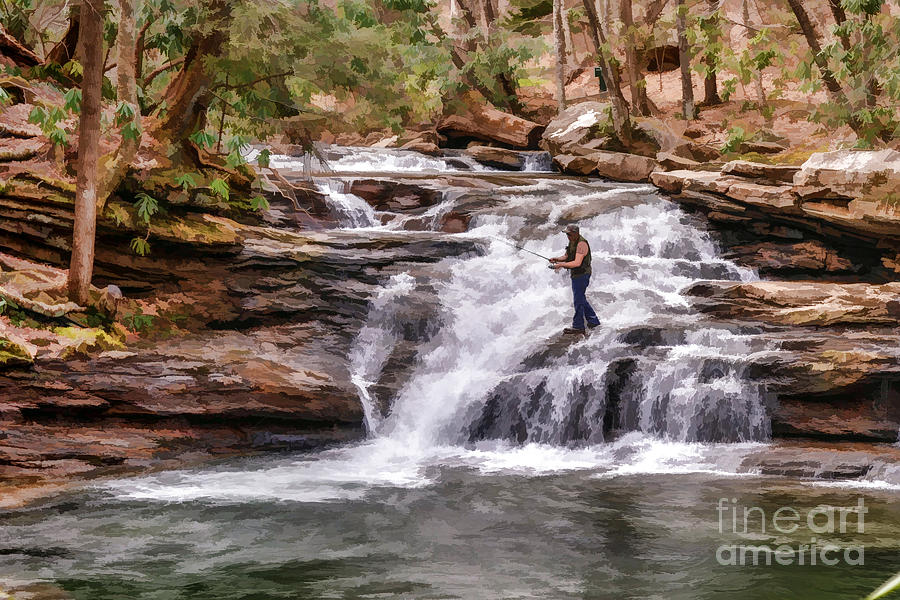 Fishing Mill Creek Falls In West Virginia Photograph