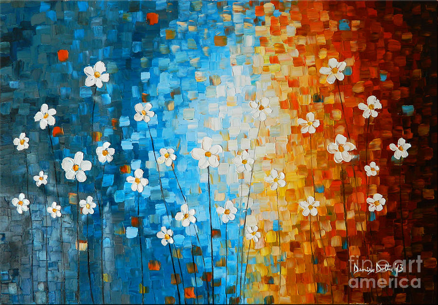Art Painting - Flowers After Rain by Denisa Laura Doltu